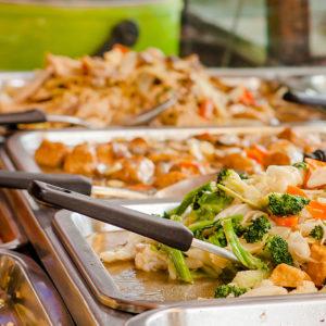 Chinese food at buffet