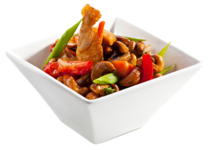 Chinese food in bowl